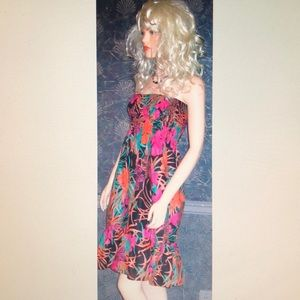 Victoria's Secret Black Floral Sun Dress S NEW!